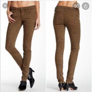 Joe's Jeans Chelsea Teak Leopard Skinny Jeans